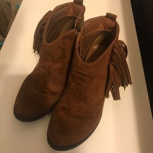 Faded Glory suede fringe ankle boots